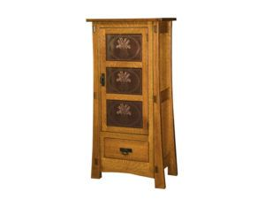 Modesto One Door Cabinet with Copper Panels
