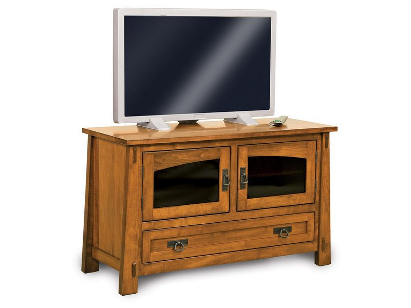 Amish Modesto Two Door, One Drawer LCD Stand