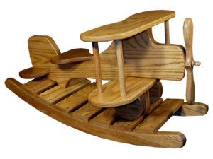 Oak Airplane Rocker