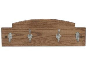 Oak Two Hook Coat Rack-Two Hook Key Holder
