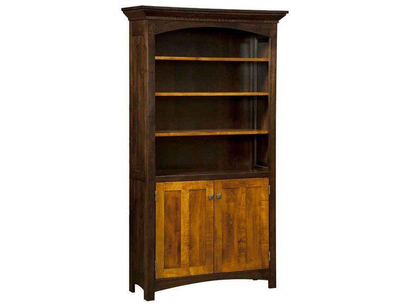 Oakwood Bookcase with Doors
