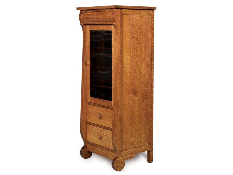 Old Classic Sleigh Deluxe Stereo Cabinet