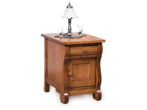 Old Classic Sleigh Enclosed End Table with Drawer
