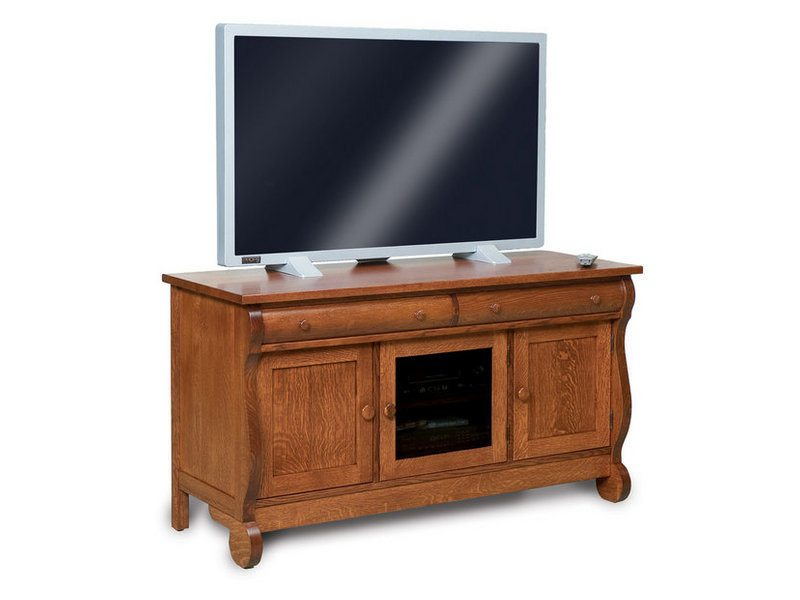 Old Classic Sleigh Two Drawer, Three Door LCD Stand