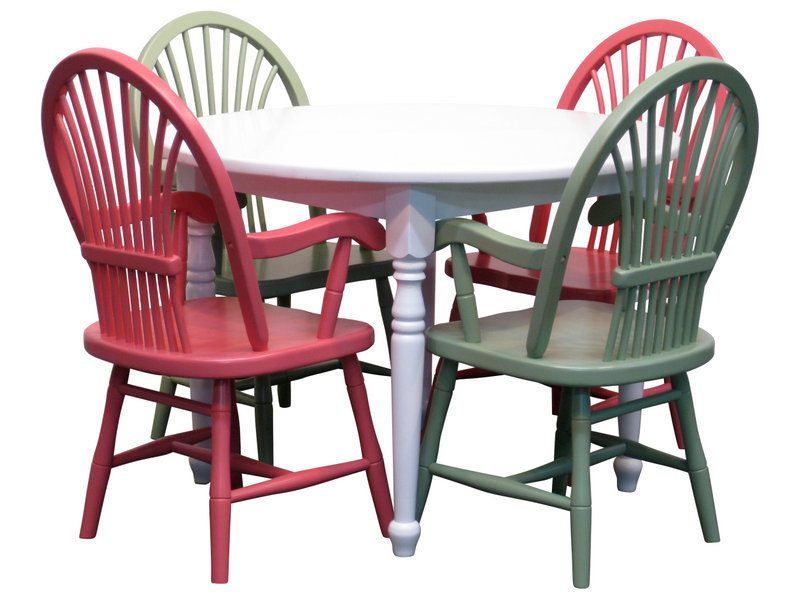 Painted Child Table Set with Four Chairs