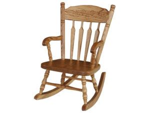 Post Acorn Child's Rocker