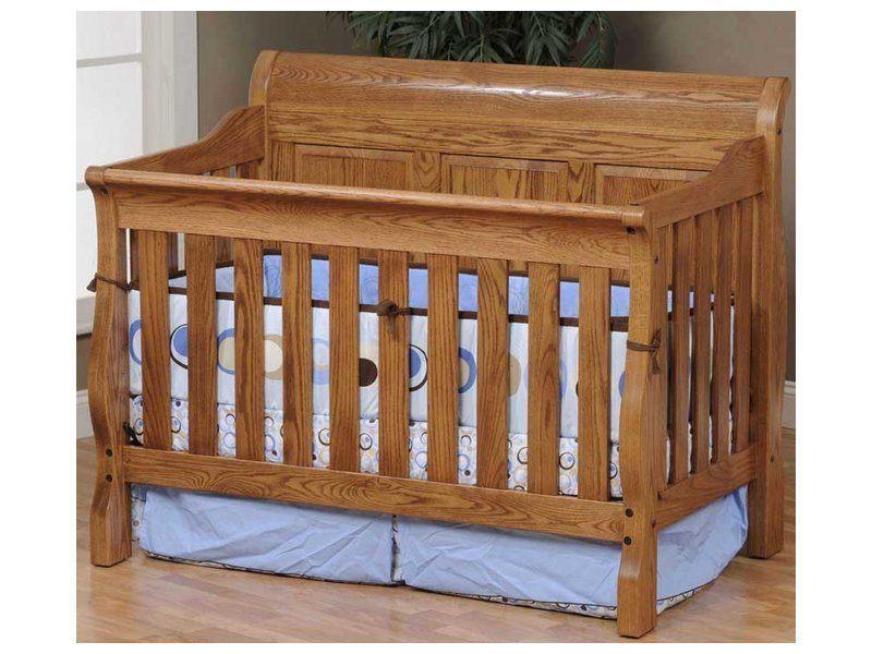 Raised Panel Sleigh Crib