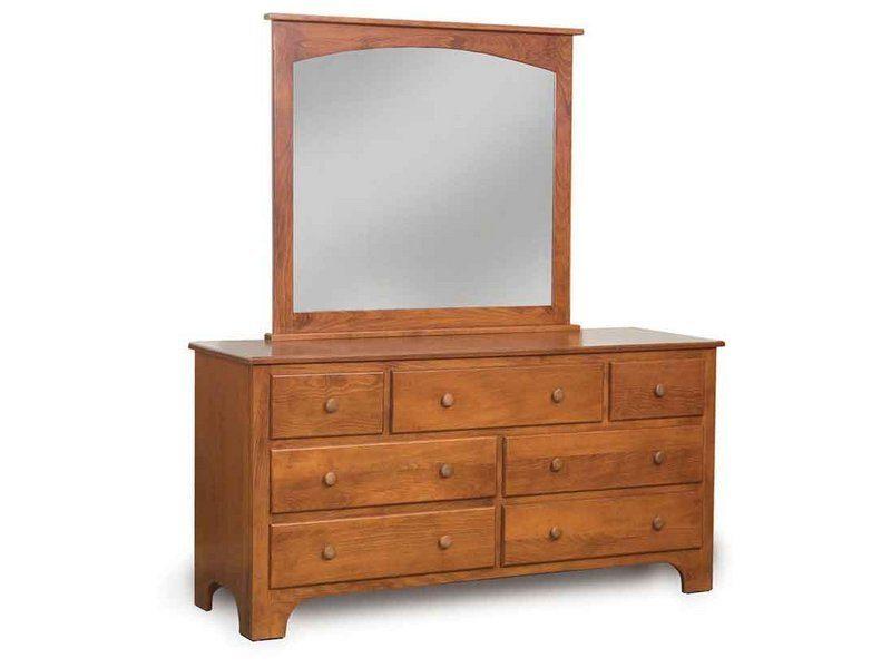 Ridgecrest Shaker Seven Drawer Dresser with Mirror