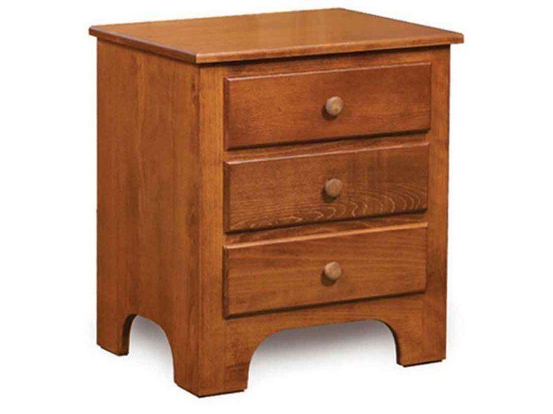 Ridgecrest Shaker Three Drawer Nightstand