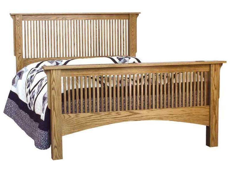 Ridgecrest Stick Mission Bed Indiana Amish Bed Wood