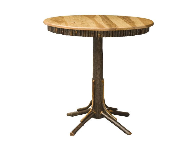 Round Hickory Pub Table
