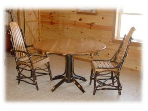 Round Hickory Table