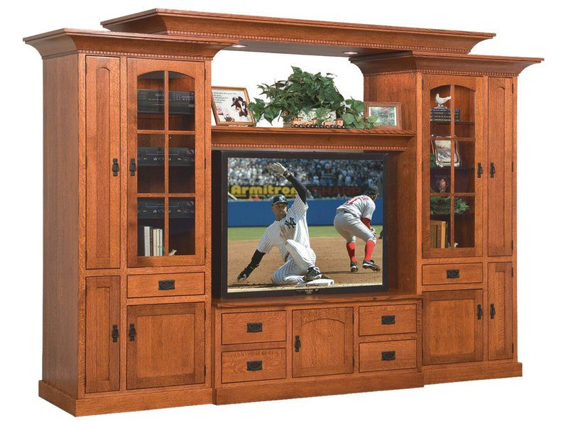 Rockport Mission Wall Unit with 16 CD Pullouts