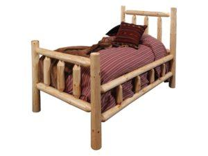Rustic Pine Twin Bed