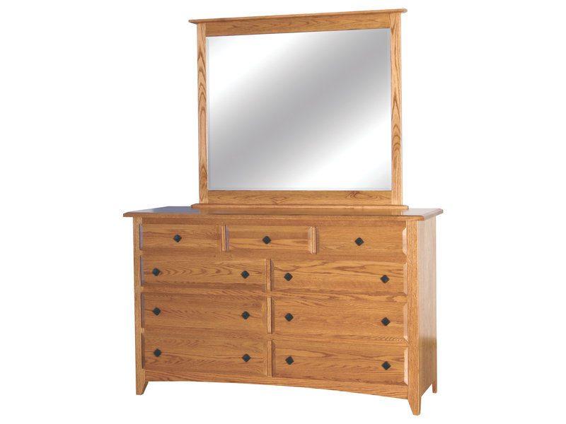 Shaker Nine Drawer Dresser