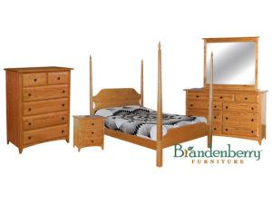 Shaker Oak Bedroom Set