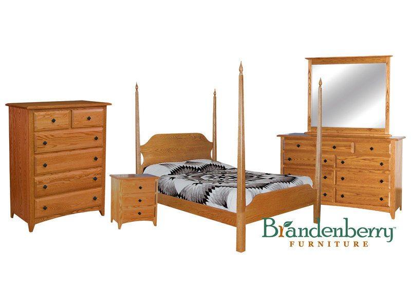 Shaker Oak Bedroom Set