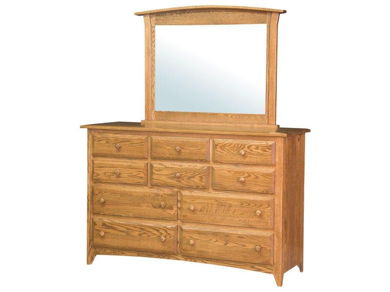 Shaker Oak Ten Drawer Dresser
