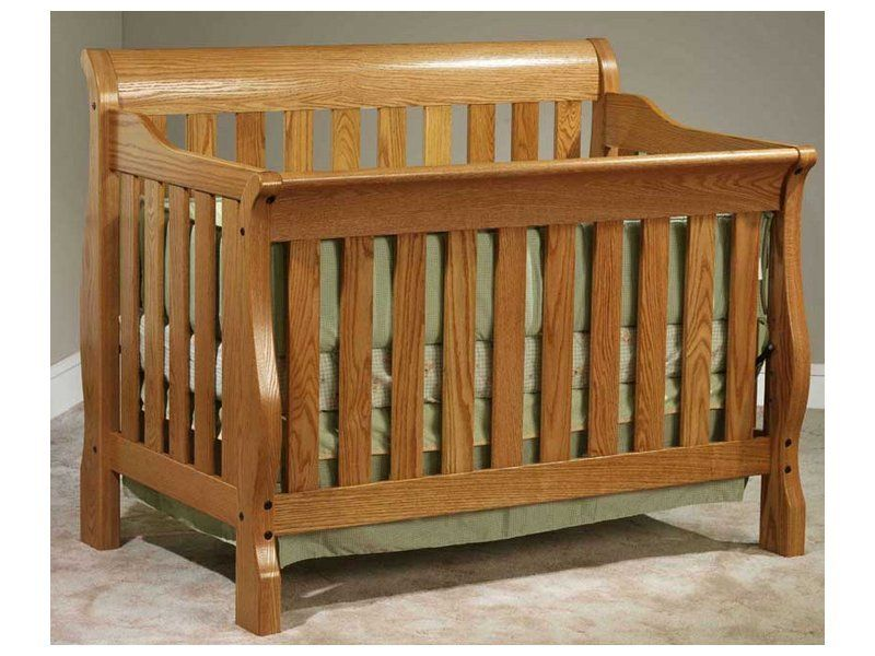 Amish Sleigh Convertible Crib Brandenberry Amish Furniture