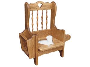 Spindle Back Potty Chair without Lid