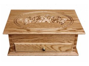 Standard Jewelry Chest with Rose Engraving