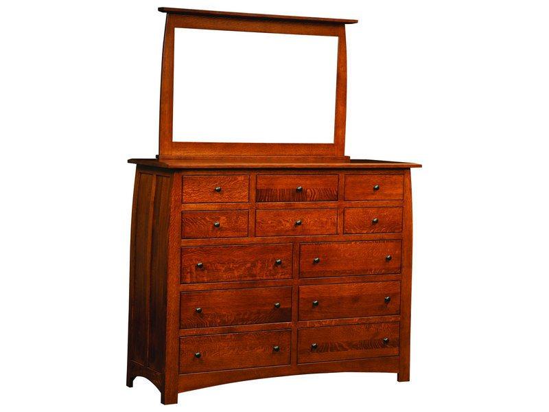 Superior Shaker 12 Drawer Dresser and Mirror
