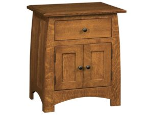 Superior Shaker One Drawer, Two Door Nightstand