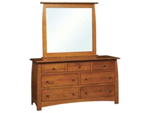 Superior Shaker Seven Drawer Dresser with Mirror