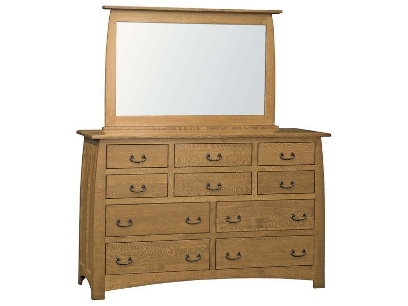 Superior Shaker Ten Drawer Dresser with Mirror