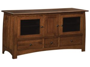 Superior Shaker Three Door, Three Drawer Plasma Stand