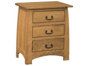 Superior Shaker Three Drawer Nightstand