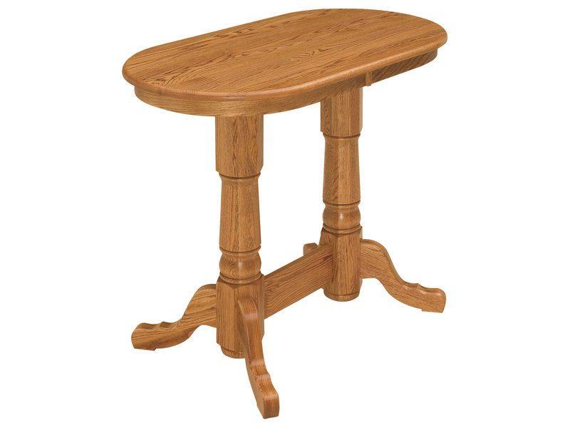 Traditional Double Pedestal Pub Table