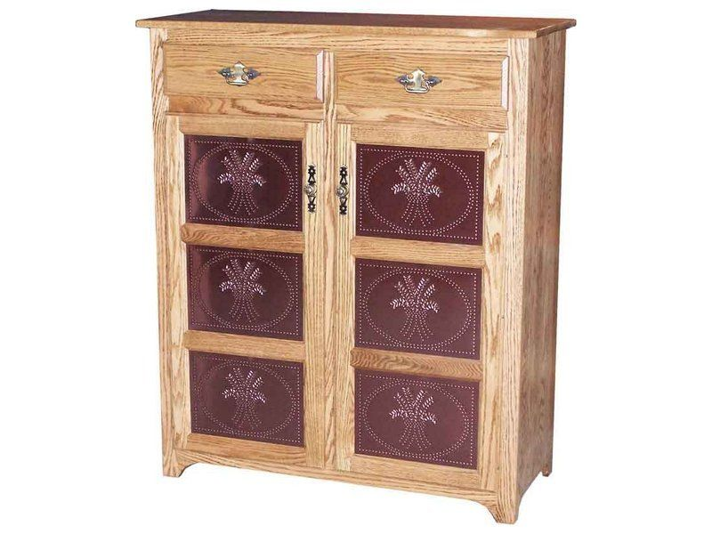 Traditional Two Door, Two Drawer Pie Safe