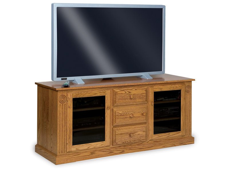 Victorian Two Door, Three Drawer LCD Stand