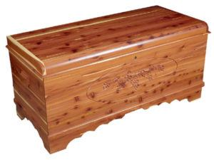 Waterfall Chest with Carving-Grapes