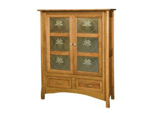 West Lake Two Door Cabinet with Brushed Nickel Panels