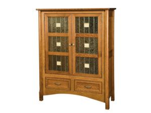 West Lake Two Door Cabinet with Glass Panels