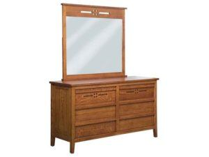 West Village Six Drawer Dresser with Mirror