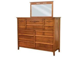 West Village Twelve Drawer Dresser with Mirror
