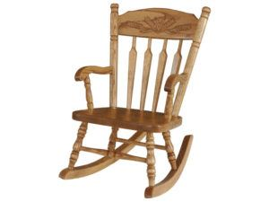 Post Wheat Child's Rocker