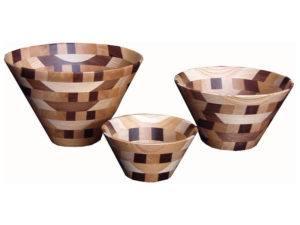 Wooden Bowls (Mixed Wood) Small, Medium and Large