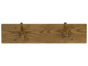 Wooden Two Hook Coat Rack