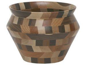 Wooden Vase Bowl (Mixed Wood)