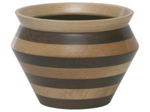 Wooden Vase Bowl (Striped)