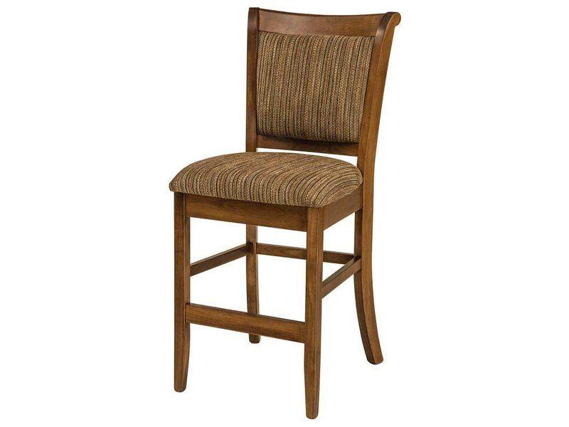 Adair Stationary Bar Stool Brandenberry Amish Furniture