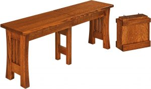Arts and Crafts Dining Bench