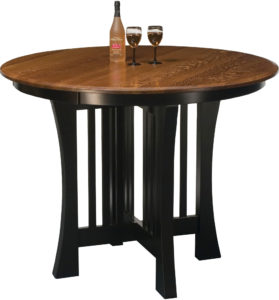 Arts and Crafts Round Pub Table