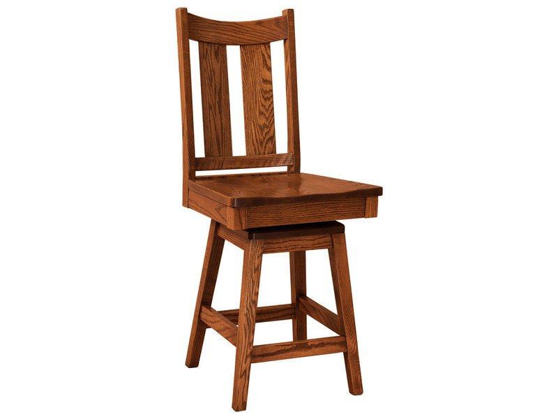 Amish Built Bars : Amish built aspen swivel bar stool brandenberry