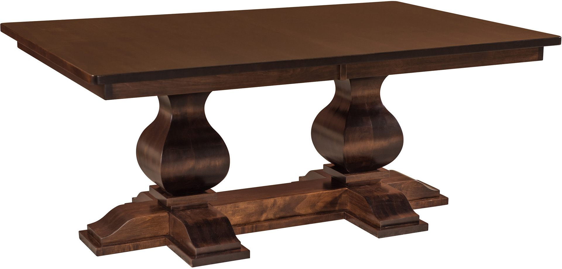 barrington double pedestal table brandenberry amish. Black Bedroom Furniture Sets. Home Design Ideas