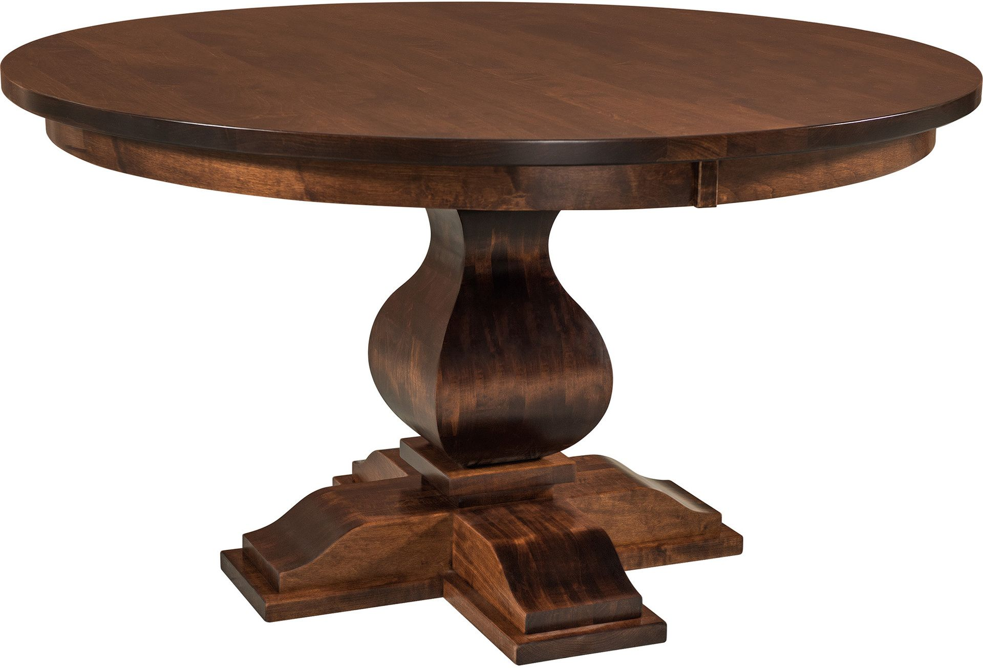 Barrington Single Pedestal Table Amish Barrington Single